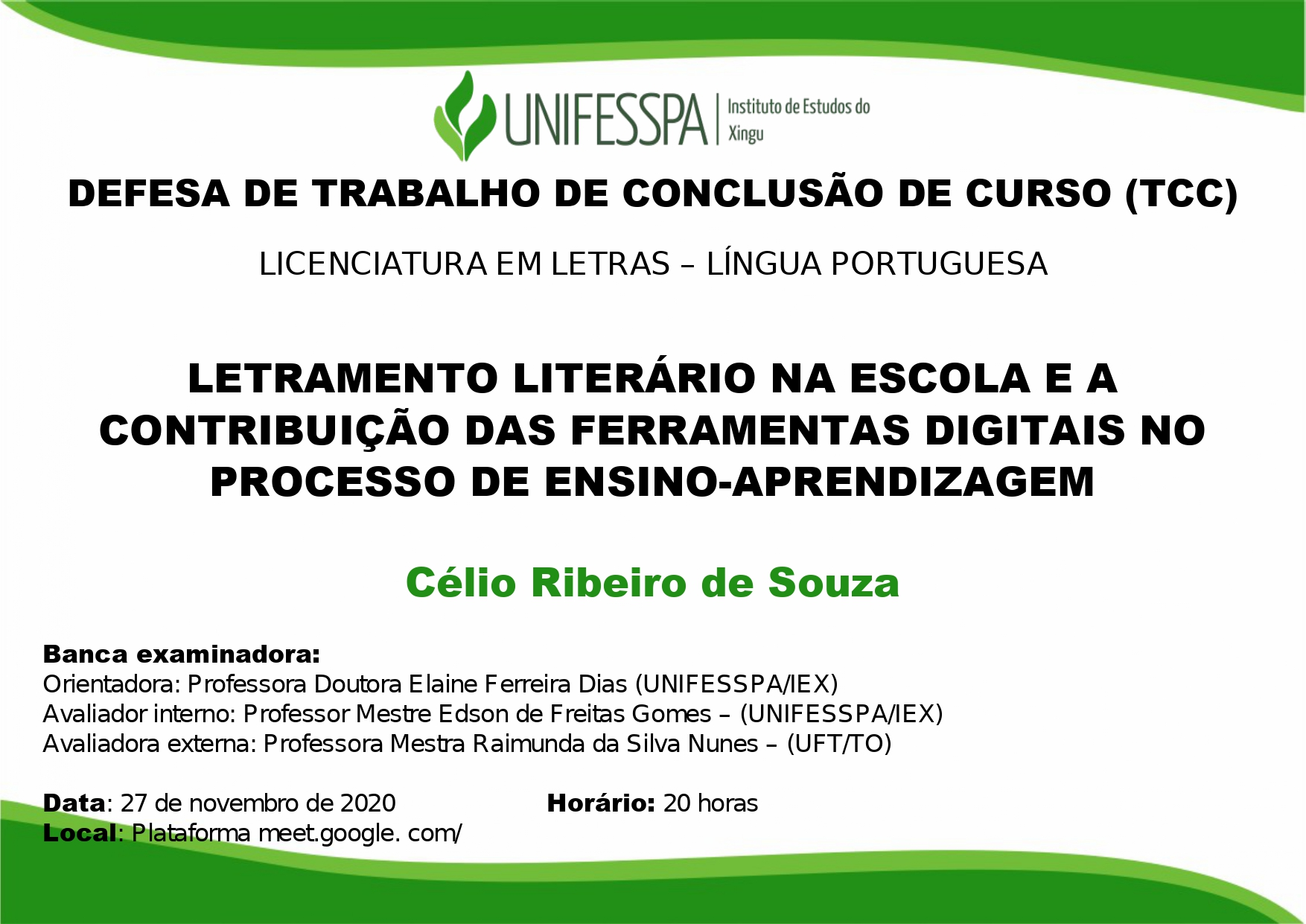 TCC - LETRAMENTO LITERÁRIO NA ESCOLA E A  CONTRIBUIÇÃO DAS FERRAMENTAS DIGITAIS NO  PROCESSO DE ENSINO-APRENDIZAGEM